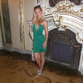 Marina is a model-looking tour guide for Odessa nightlife
