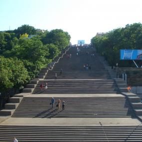 Famous Potemkin Stairs in Odessa